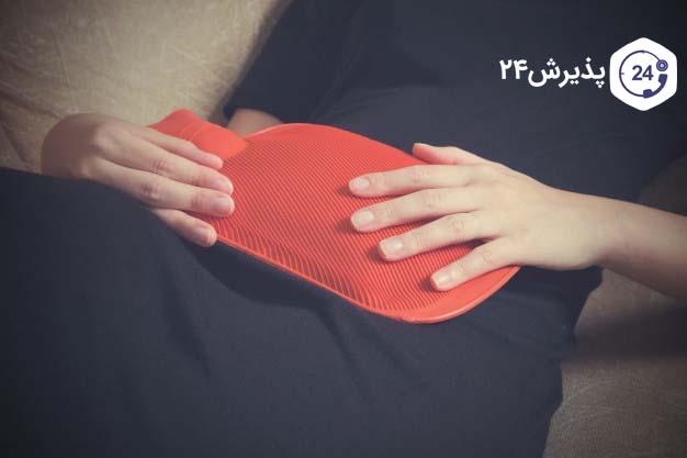 درمان دل درد با کیسه آب گرم