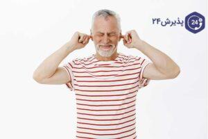 پیرمردی که گوش درد دارد