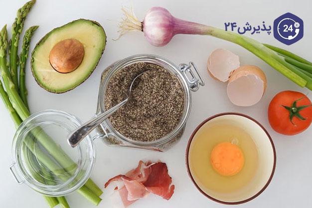 نمونه برنامه غذایی کتوژنیک